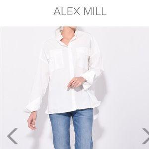 Alex Mill Oversized White Cotton Button Down Shirt